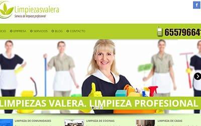 Proyecto diseño web realizado para Limpiezas Valera