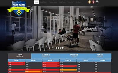 Proyecto diseño web realizado para Pádel la Dársena